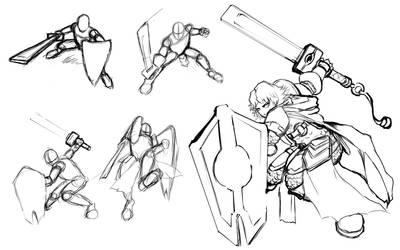 Female Knight Dynamic Pose Study