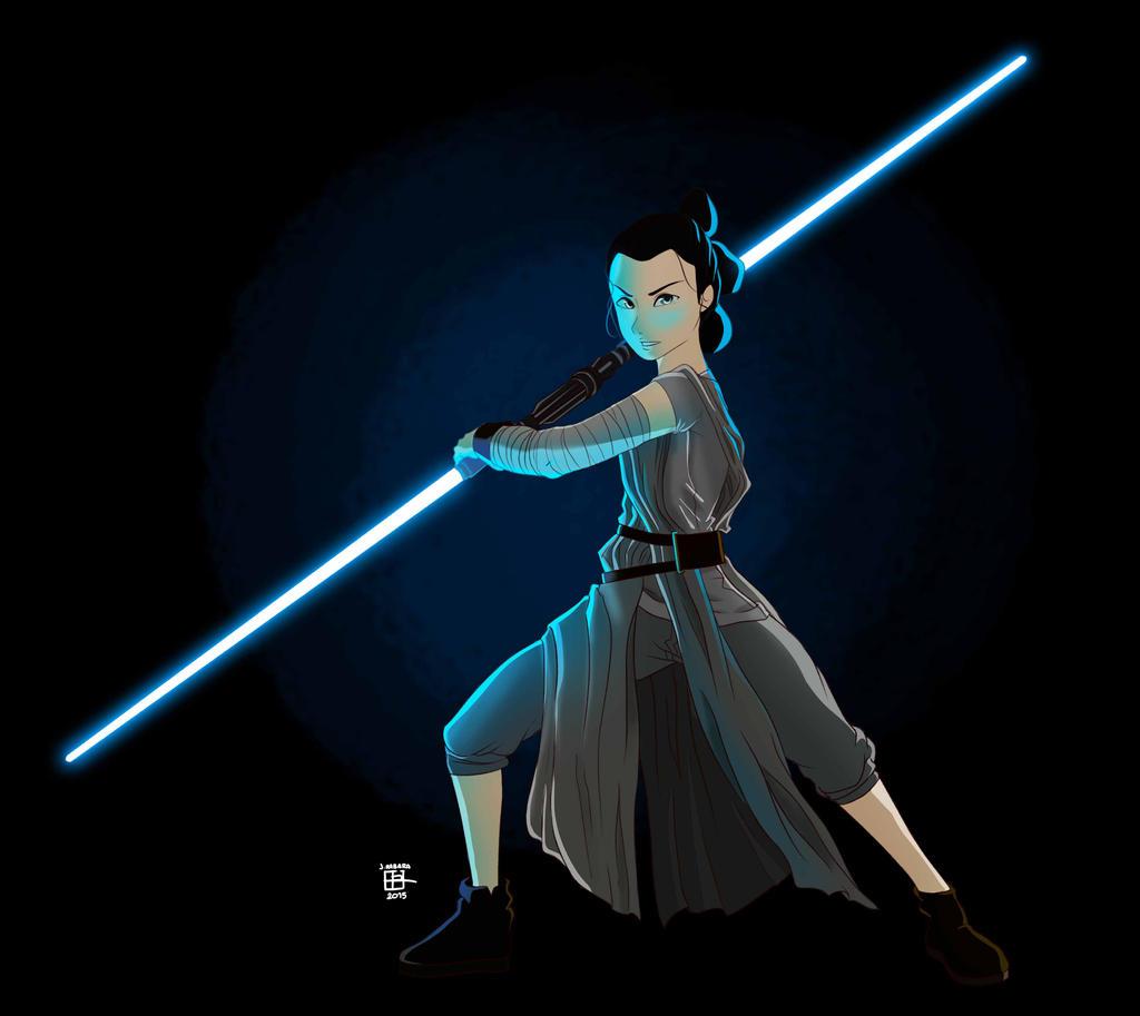 Rey Double Edged Lightsaber By Nagseoninja On Deviantart