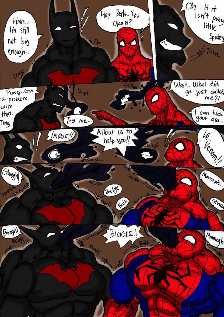 Spidey And Batman Flex Out Pg 1 by haggith