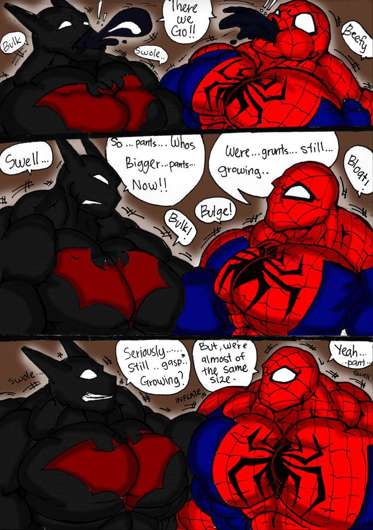 Spidey And Batman Flex Out Pg 2 by haggith