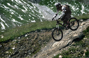 Downhill mountain biking I by younghappy