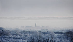 View of Kilrea on a frosty day