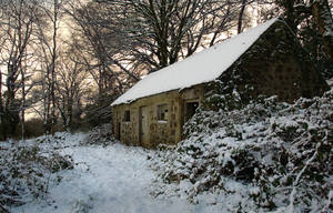 Irish barn in winter by younghappy