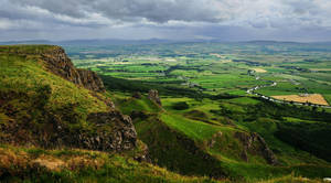 Binevenagh and the river Roe by younghappy