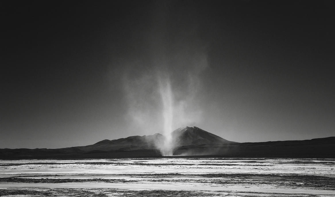 Dust devil, Salar de Chiguana, Bolivia by younghappy