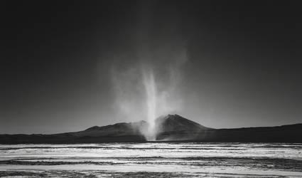 Dust devil, Salar de Chiguana, Bolivia by younghappy