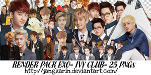 [Render Pack] EXO for IVY Club - 25 PNGs