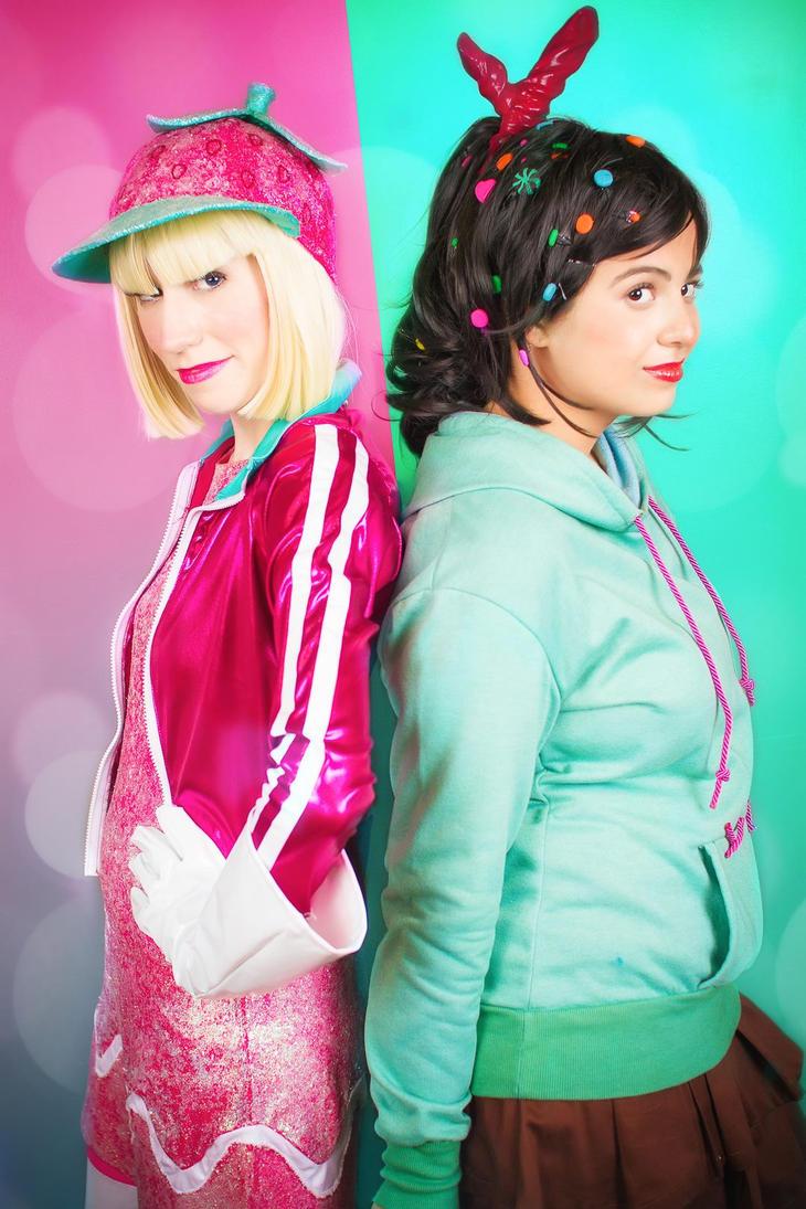 Vanellope Von Schweetz and Taffyta Muttonfudge by RedVelvetCosplayVanellope Von Schweetz And Taffyta Kiss