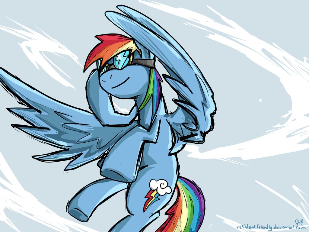 Flight of Rainbow by Residentfriendly