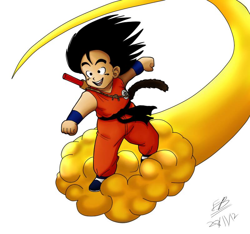 kid goku on flying - photo #39