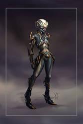 Warframe Mesa Prime concept art