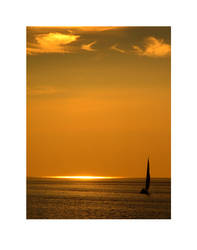 Sunset Sail by backbayben