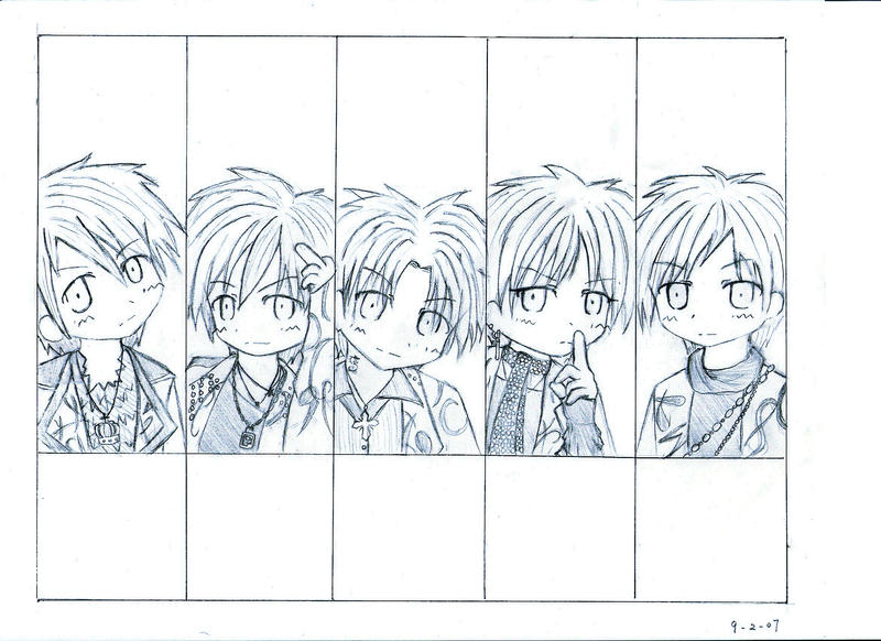 WHOLE Alice Nine Chibi -raw- by warm-pretty-lies