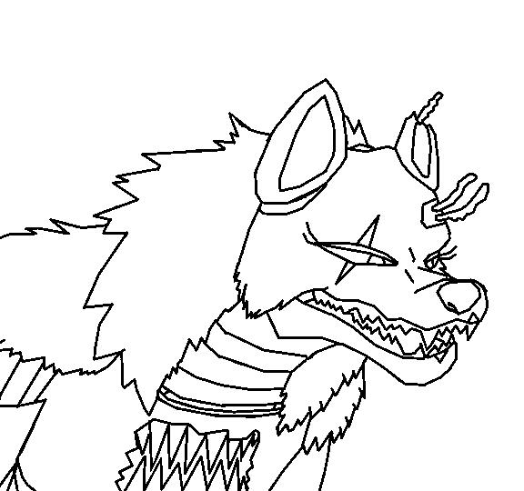 Nightmare Wolf Animatronic Base by TigerLillyPurpleGirl