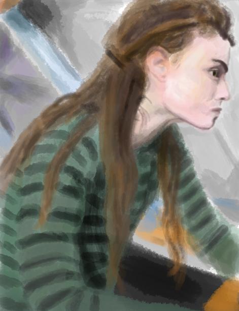 Portrait of a girl by junuxx