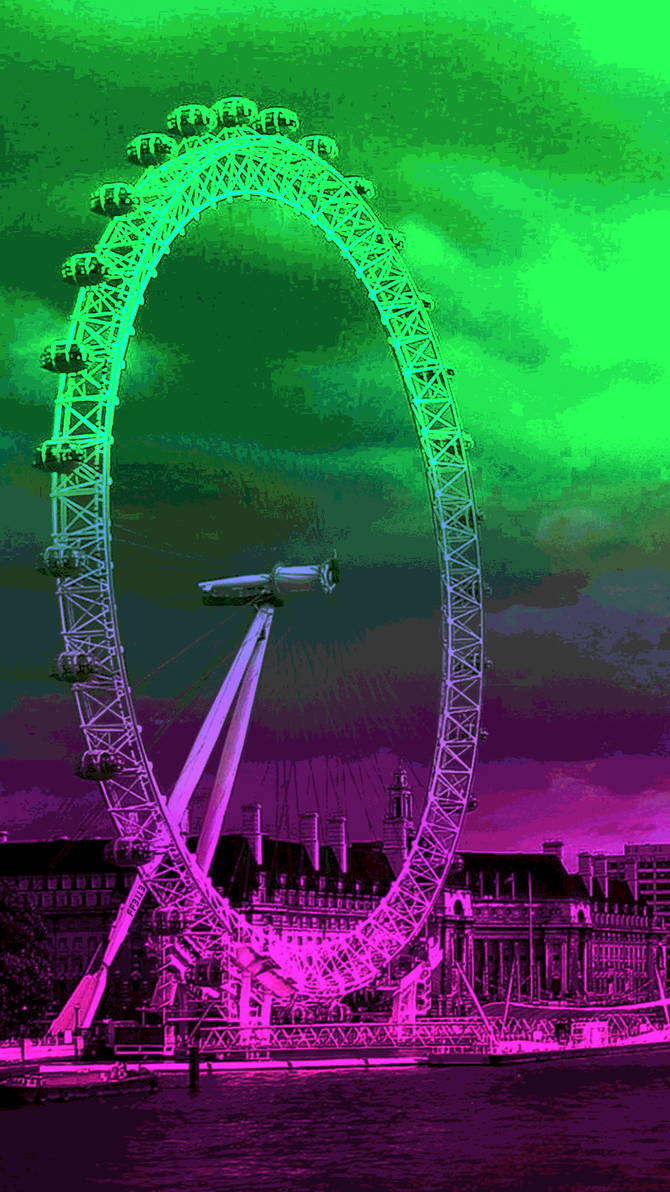 Aesthetic Phone Wallpaper Panoramic Wheel By Ff3113 On