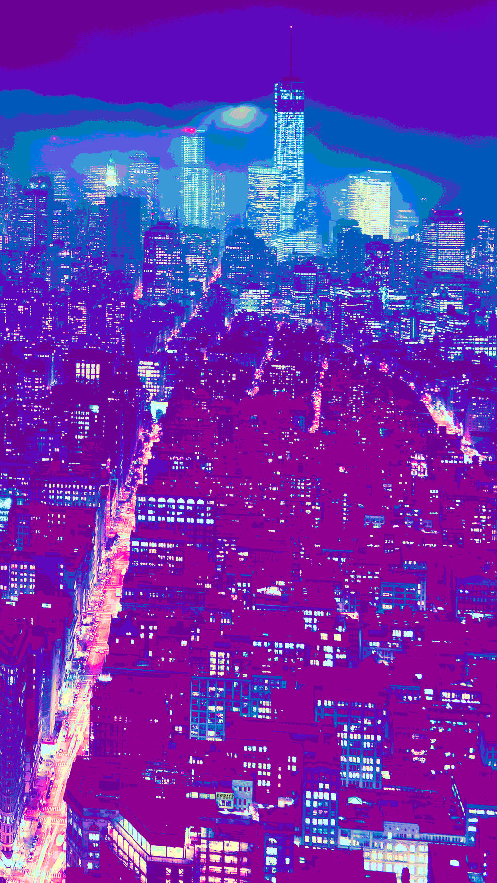 Aesthetic Phone Wallpaper City At Night By Ff3113 On Deviantart