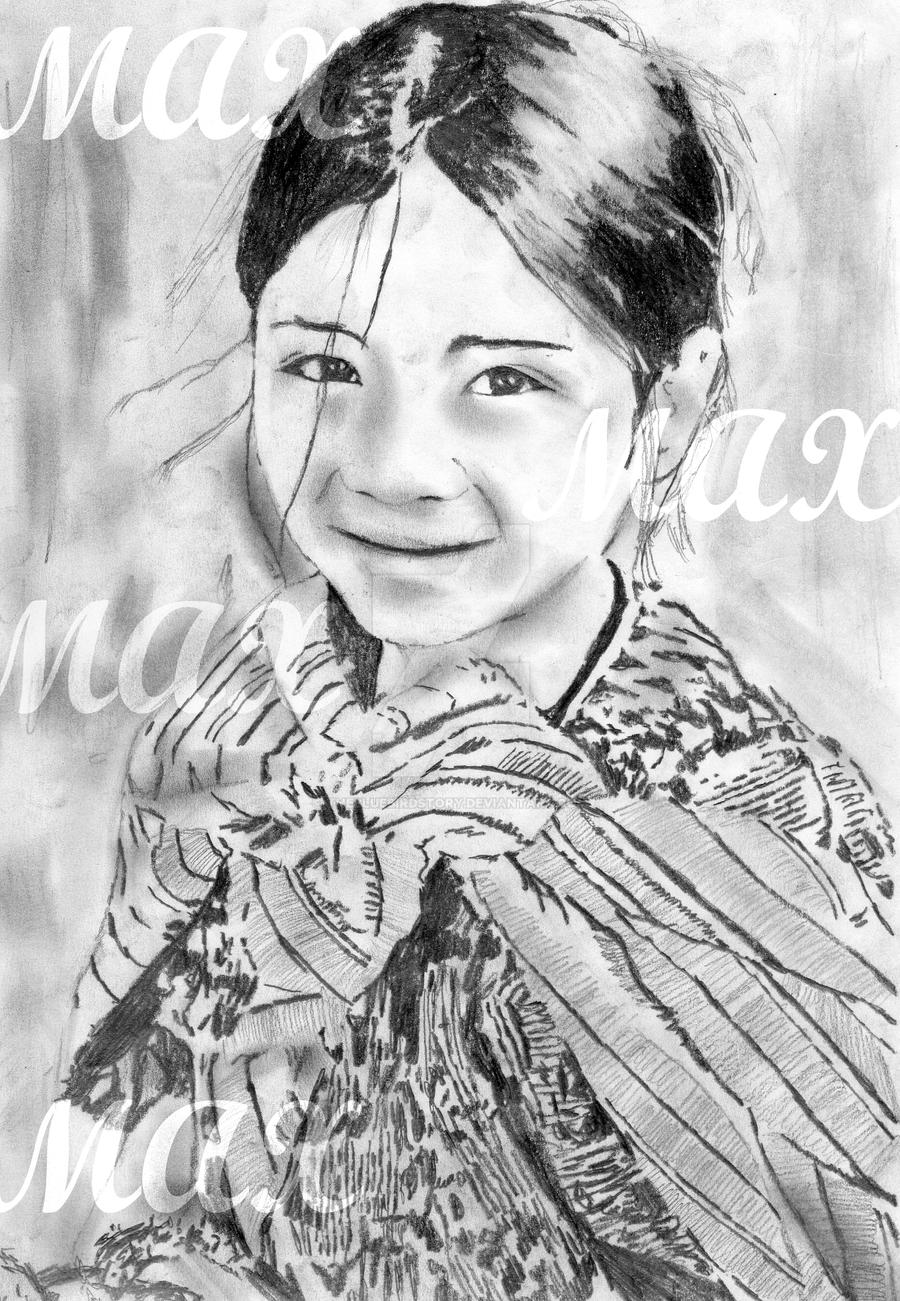 Little mayan girl drawing by thebluebirdstory little mayan girl drawing by thebluebirdstory