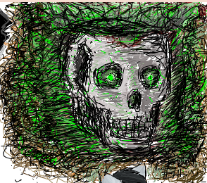 Glowing Skull on iScribble by mimidan