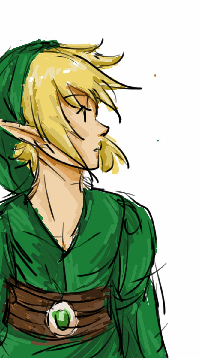 Shitty Link Colored Sketch by mimidan