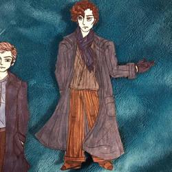Sherlock Holmes paper doll