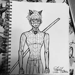 Chat Noir Sketch - Miraculous Ladybug