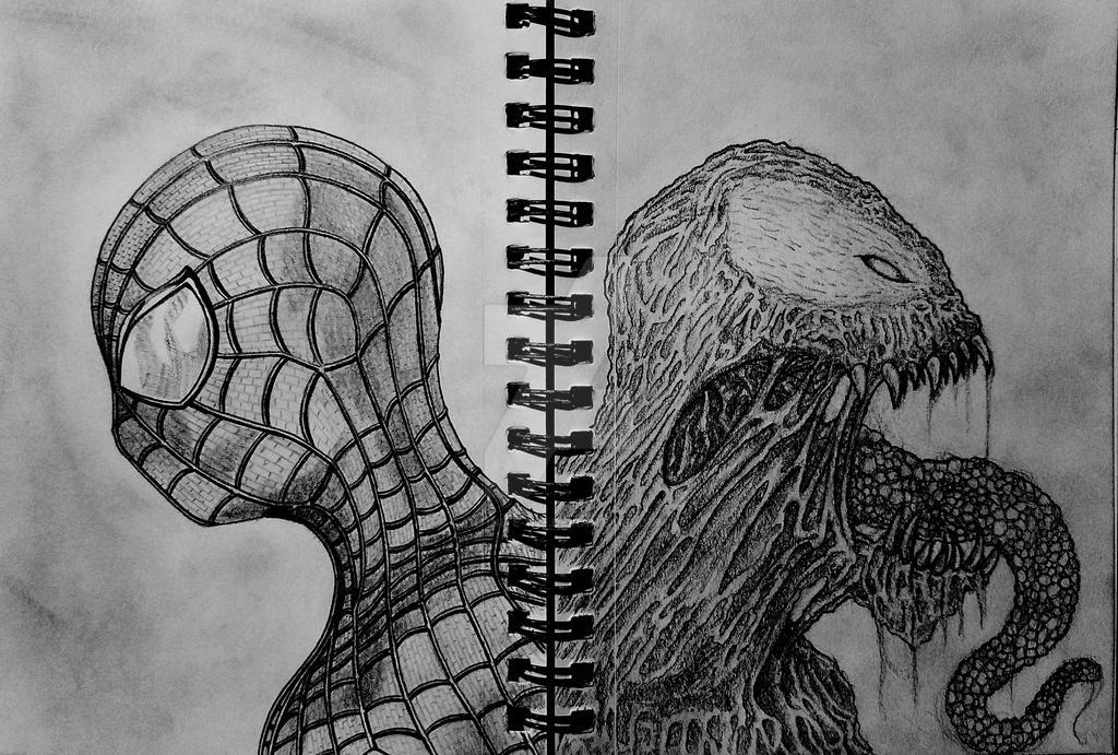 Spiderman/Venom by 1nfinite-1ne