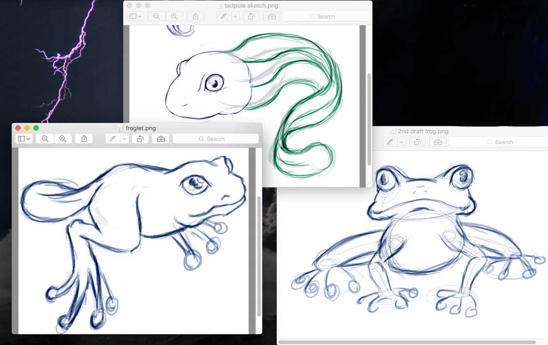 Tadpole, Froglet and Frog sketches by Izzabell on DeviantArt