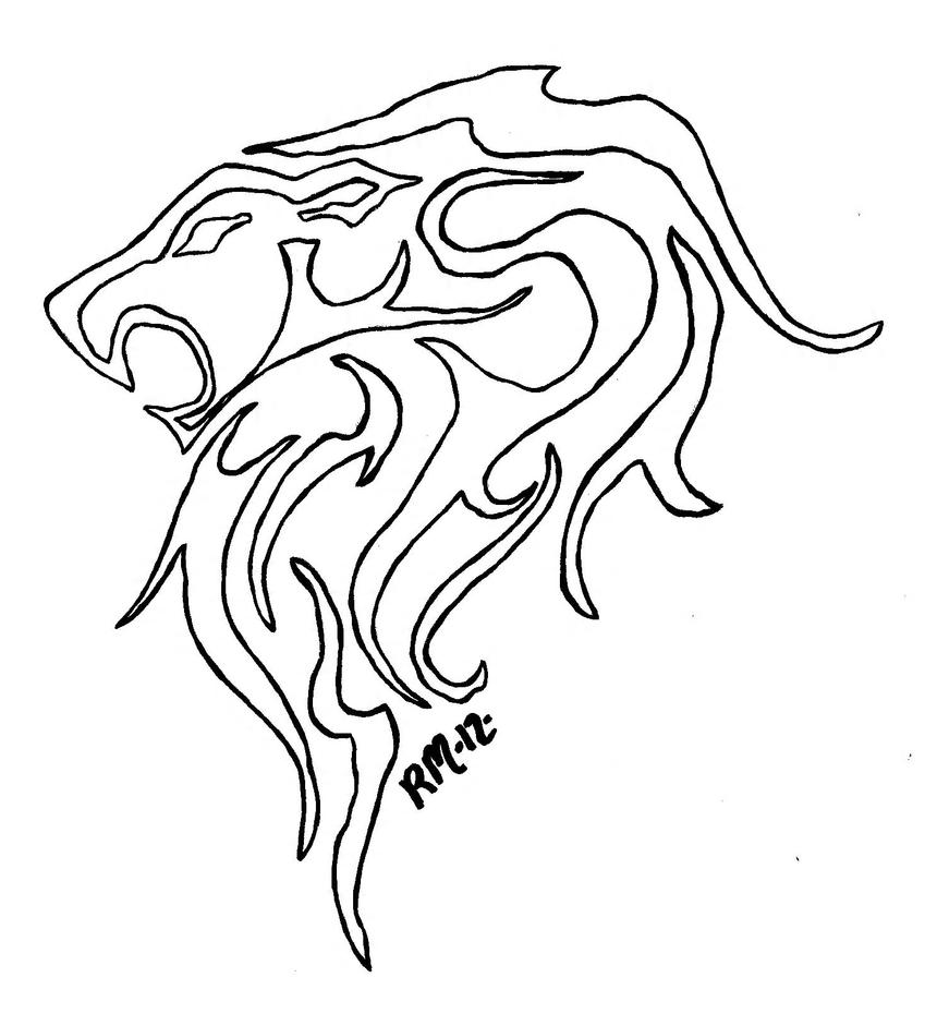 Lion Outline Picture