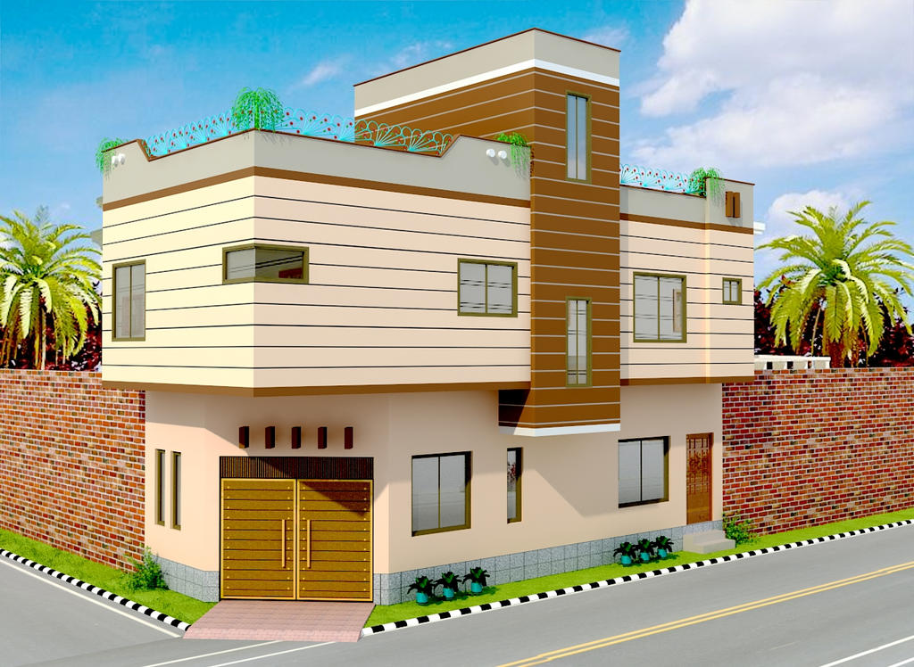Exterior Small House By Haseen ...