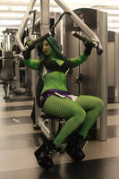 She Hulk Gets to the Gym by ECHOENDLESS