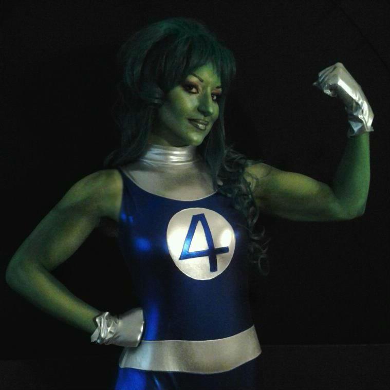 She Hulk Body Paint Cosplay