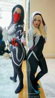 Silk and Spider Gwen cosplay echo endless