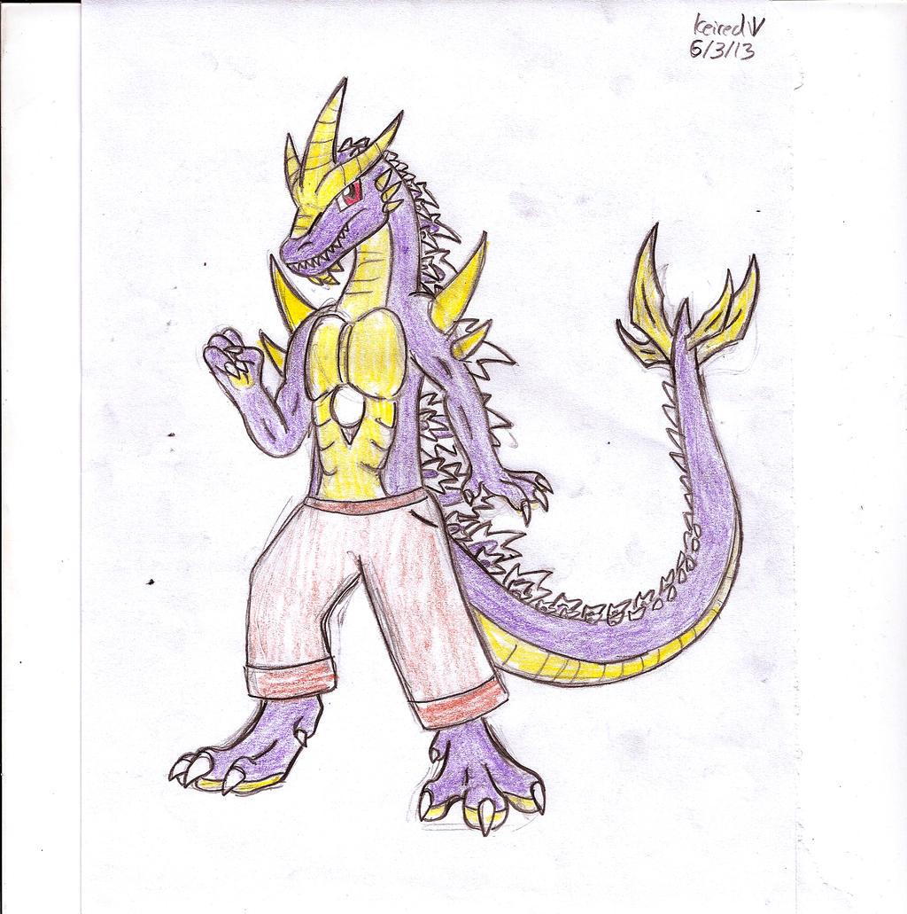 Anthro Super Godzilla by Dinoboy134