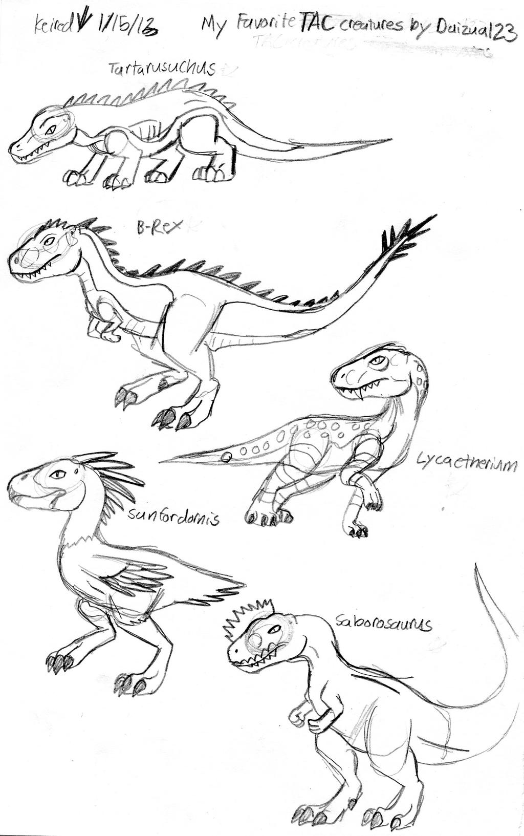 My Favorite TAC Creatures by Daizua123 by Dinoboy134