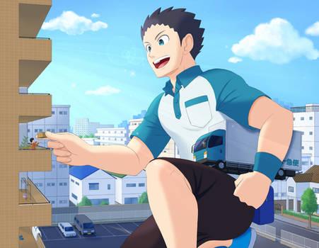 Giant deliveryman