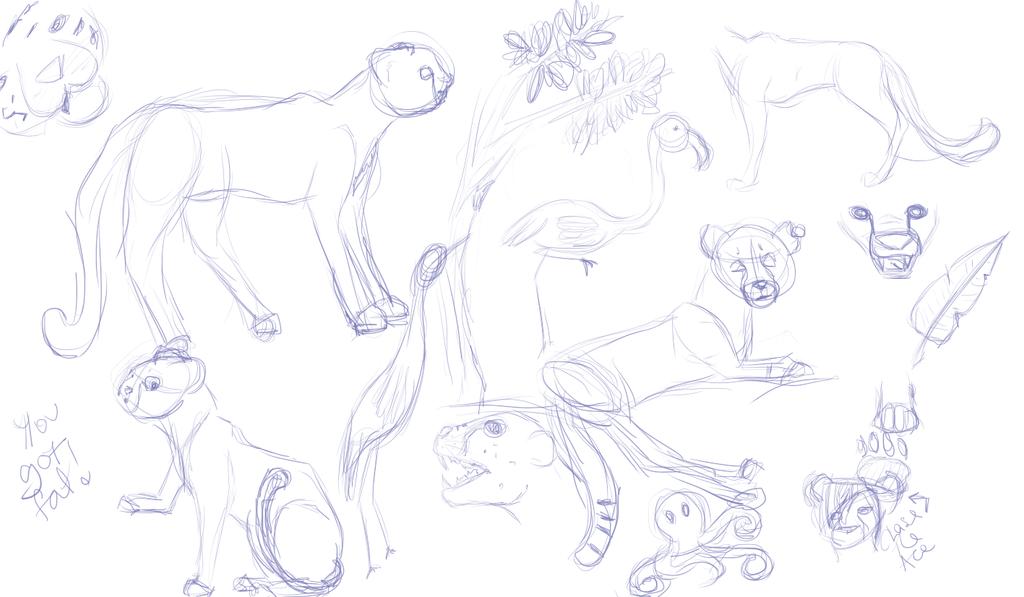 More sketches by ShindosGirl