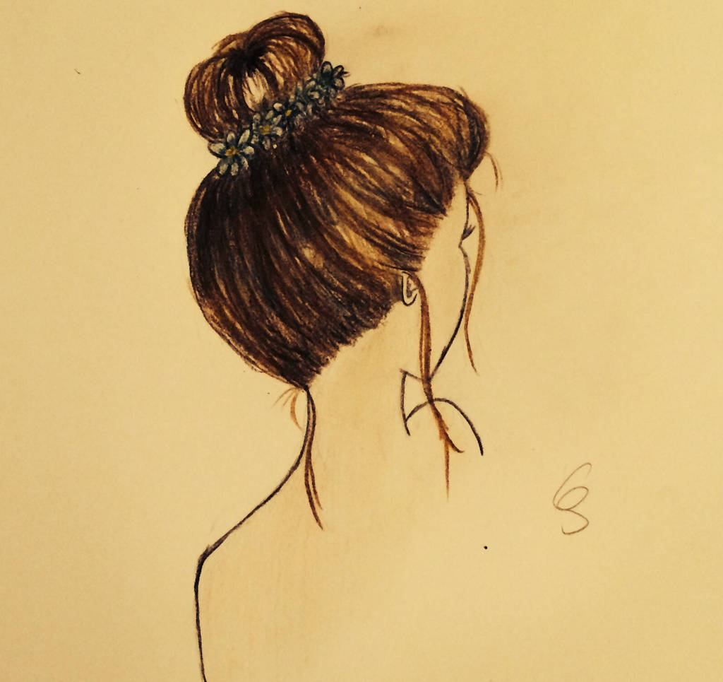 Messy Bun Drawing By Summerreds On Deviantart