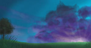 Sunset speedpaint by Moonlight-pendent13
