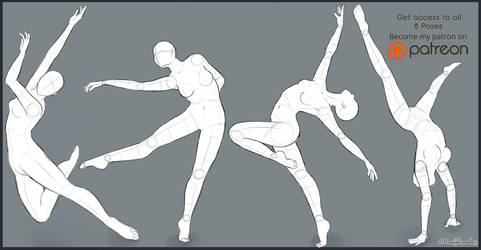 Pose Studies, Pack 4 by Moonlight-pendent13