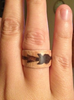 Wood Ring - Arrow by Ghost-Apple