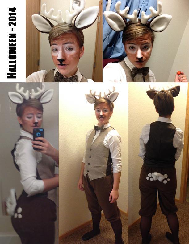 Deer Costume - Halloween 2014 by Ghost-Apple