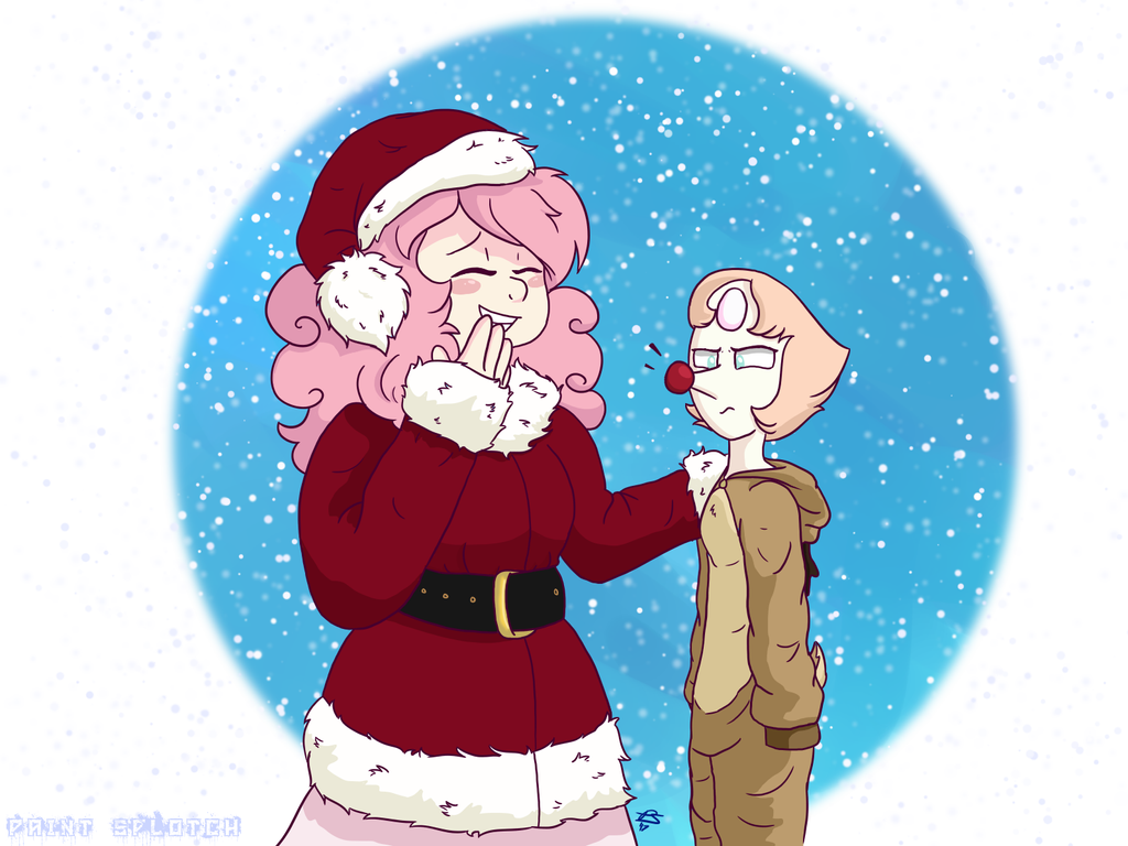 Someone on Instagram wanted to see Rose dressed up as Santa and I couldn't pass up the opportunity to do this piece. I don't own Steven Universe or any of the characters, this is my own art though.