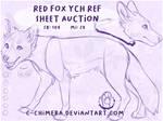 YCH A: Red Fox Ref Sheet