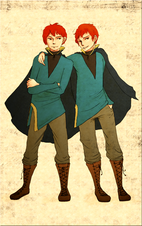 Fred and George by Nyajinsky
