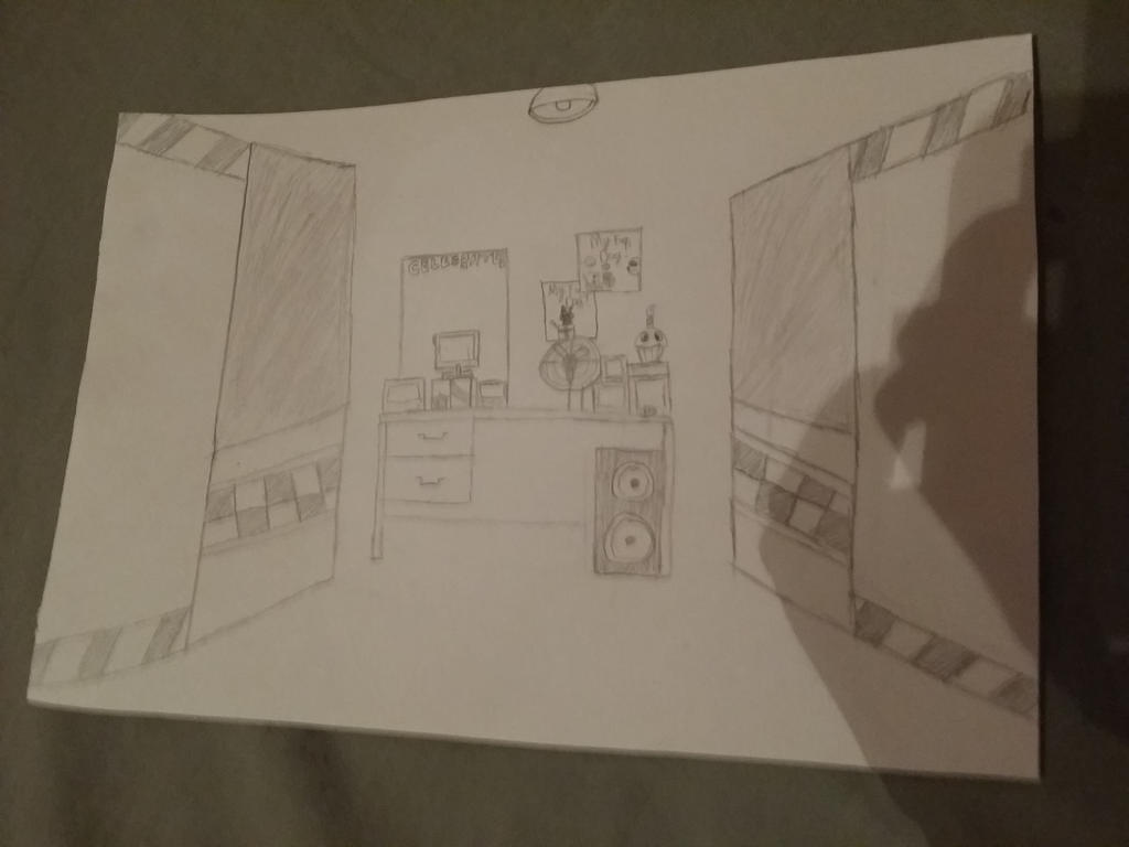 drawing of fnaf office for school project by deadloxtottalfangirl art drawing office