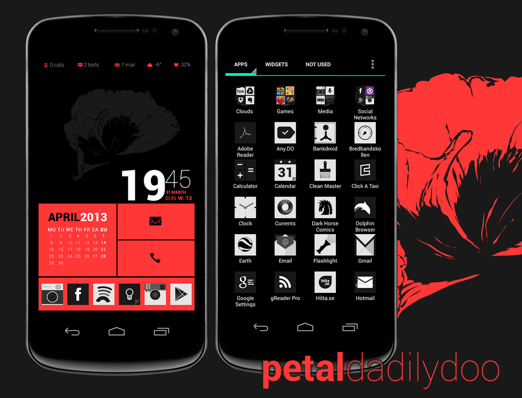 Petal Android Screen by dadilydoo