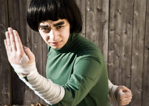 Rock Lee from Naruto Cosplay at AniMaine 2011