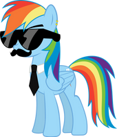 Mane Six Got Swag: Rainbow Dash by l0gun