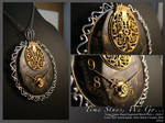 Steampunk pendant: Royal: Time stays, We go